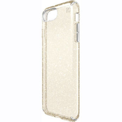 Presidio Clear Glitter Case for iPhone 7 Plus (Clear with Gold Glitter)