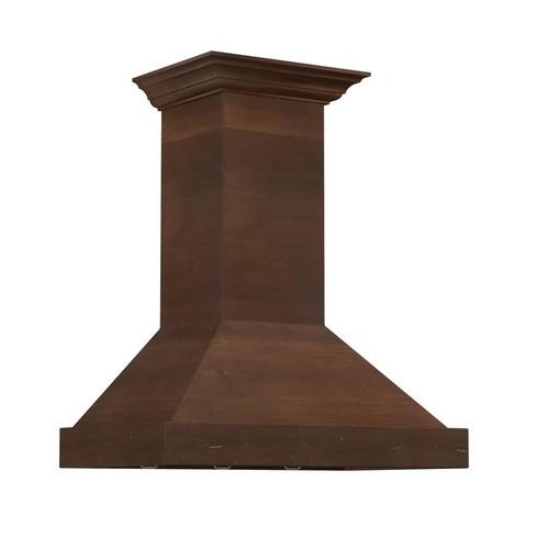ZLINE Kitchen and Bath ZLINE 36 in. 760 CFM Designer Series Wooden Wall Mount Range Hood