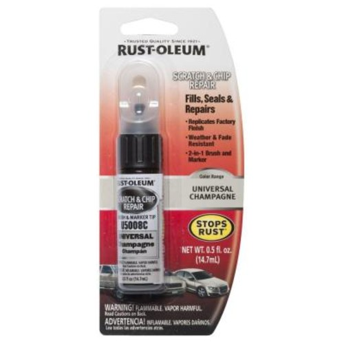 Rust-Oleum Automotive 0.5 oz. Universal Champagne Scratch and Chip Repair Marker (6-Pack)