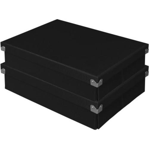 Samsill Pop n' Store Document Box (Set of 2) [option : Black]