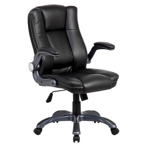Medium Back Manager Chair with Flip-up Black - Techni Mobili