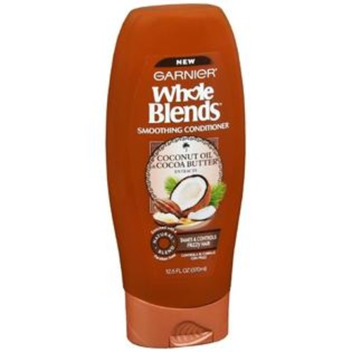 Garnier Whole Blends Smoothing Conditioner Coconut Oil & Cocoa Butter, 12.5 OZ