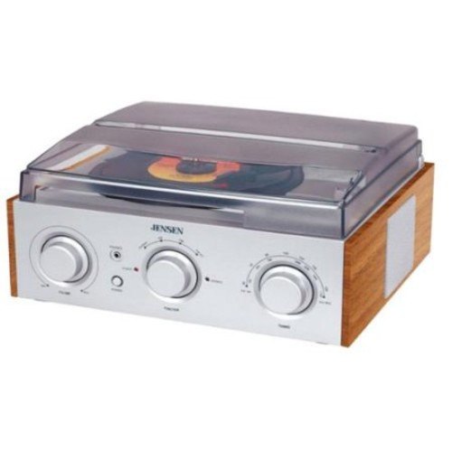 Jensen 3-Speed Stereo Turntable with AM/FM Stereo Radio