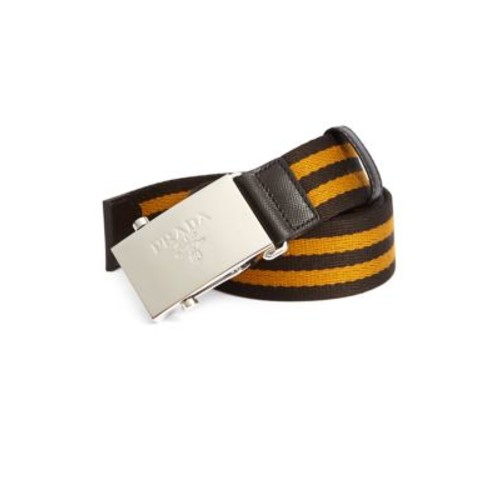 PRADA Striped Nylon Belt
