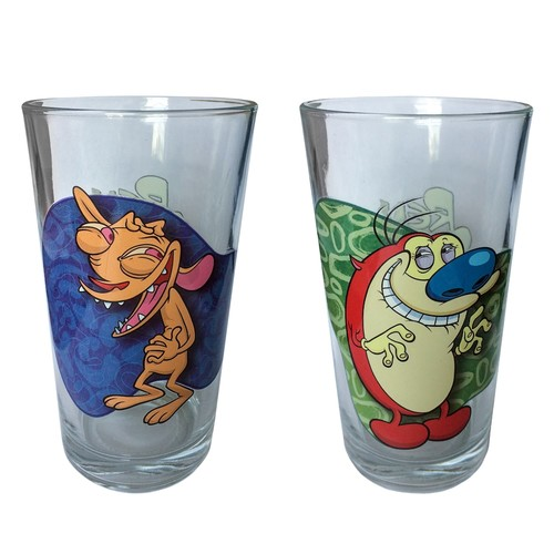 Nickelodeon Ren & Stimpy Pint-Glass & Ice Cube Tray Set by ICUP