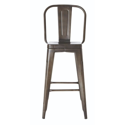 Home Decorators Collection Garden 30 in. Gunmetal Bar Stool with Back