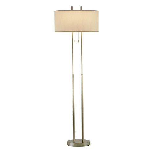 Adesso Duet Floor Lamp, Satin Steel
