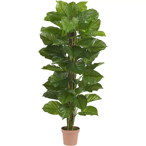 Nearly Natural 63 in Large Leaf Philodendron Silk Plant (Real Touch)