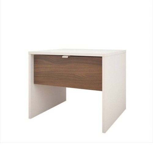 port 1 Drawer Nightstand - White and Walnut - Nexera