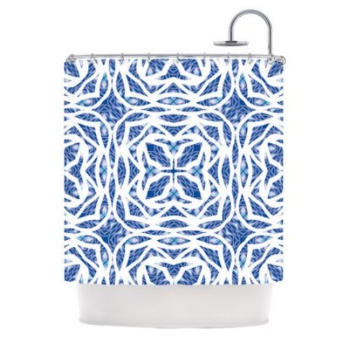 KESS InHouse Blue Explosion Polyester Shower Curtain