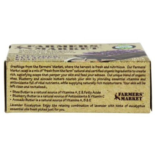 Farmers' Market Natural Bar Soap Lavender Eucalyptus, 5.5 Ounce