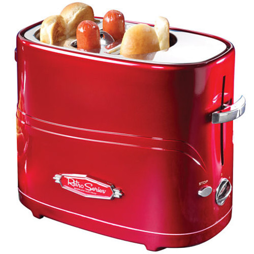 Nostalgia 2-Slice Red Hot Dog Toaster