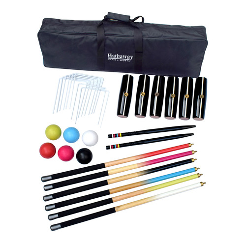 Hathaway Deluxe 6-Player Croquet Set