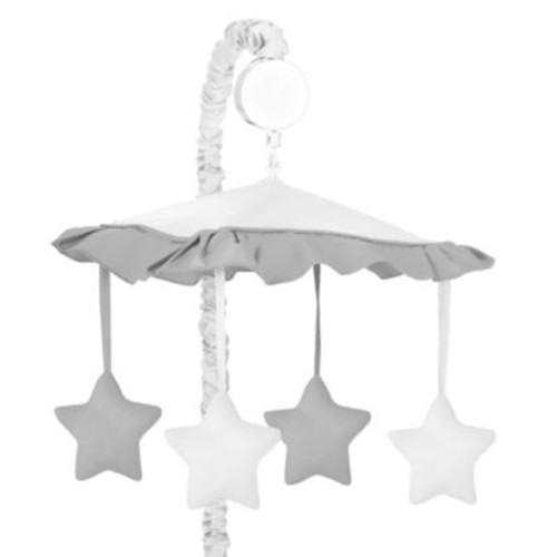 Sweet Jojo Designs Hotel Musical Mobile in White/Grey