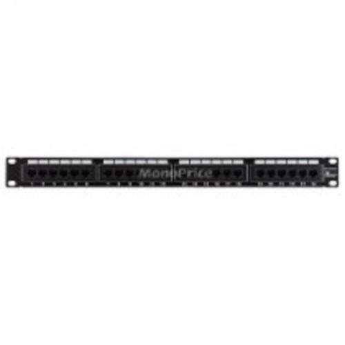 Monoprice - Cat5 Enhanced Patch Panel 110Type 24 port (568A/B Compatible) - Black