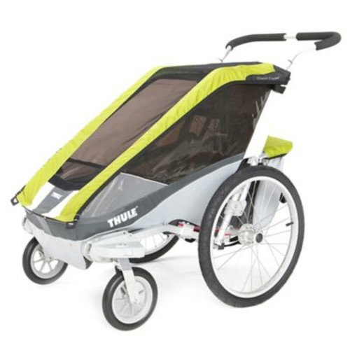 Thule Chariot Cougar 1 Multi-Sport Child Carrier with Strolling Kit in Avocado