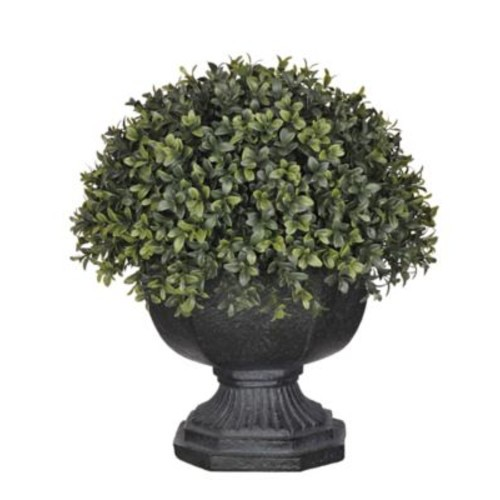 House of Silk Flowers Artificial Boxwood Half-Ball Topiary in Urn