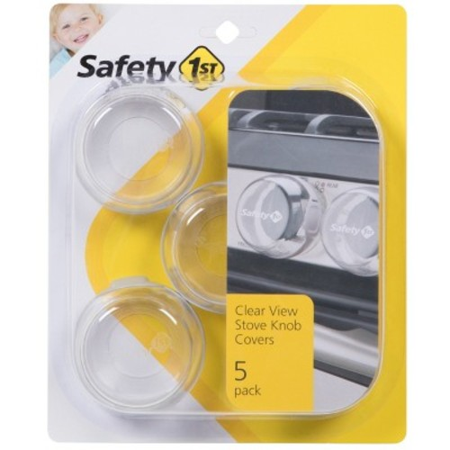 Safety 1st Clear View Stove Knob Covers, 5 Count [Clear, 5 Count]