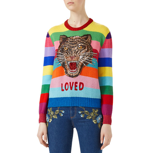 GUCCI Striped Wool Sweater, Multi