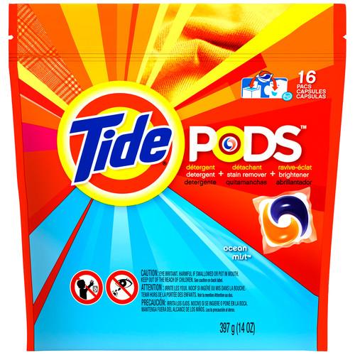 Tide Pods Detergent Ocean Mist , HE, 16 loads
