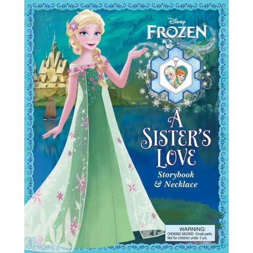 Disney Frozen a Sister's Love Storybook and Necklace