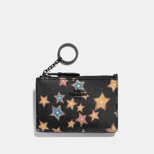 mini skinny id case with starlight print