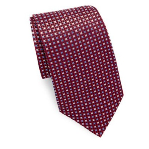 Saks Fifth Avenue Made in Italy - Two Tone Dot Silk Tie
