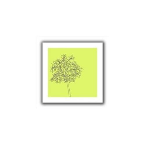 Artwal Jan Weiss Citron Happy Flower II Unwrapped Canvas Art, 24 x 24 Inch