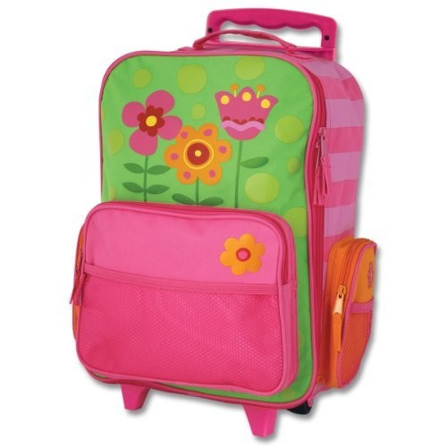 Stephen Joseph Classic Rolling Luggage [One Size, Flower- Stripes]