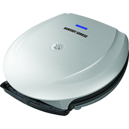 George Foreman 103 Square Inch Fixed Plate Grill with Platinum Finish - GR0030P