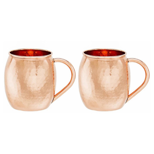 Dutch 2-pc. Hammered Copper Moscow Mule Set