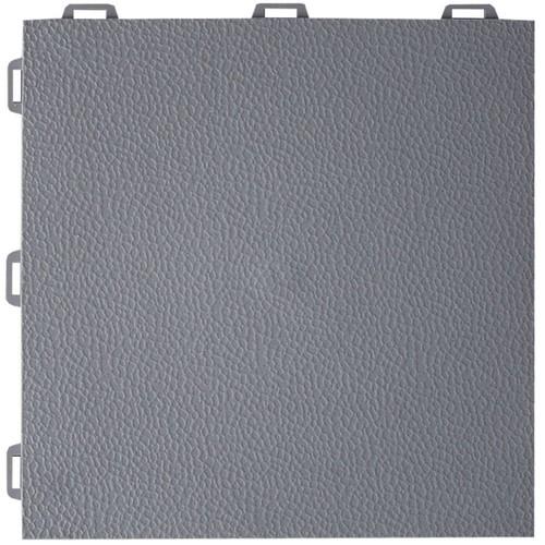 Greatmats StayLock Orange Peel Top Gray 12 in. x 12 in. x 0.56 in. PVC Plastic Interlocking Basement Floor Tile (Case of 26)
