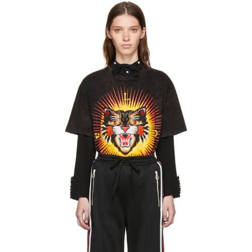 GUCCI Black 'Modern Future' Tiger T-Shirt