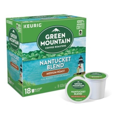 Green Mountain Coffee Nantucket Blend Medium Roast - K-Cup Pods - 18ct