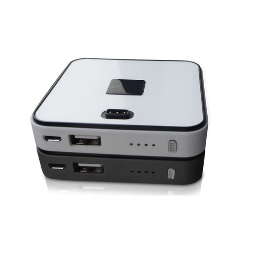 2 Disk Square Stackable 6000 mAh Power Bank