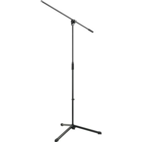 K&M 25400-500-55 Microphone Stand with Boom Arm, Black 25400.500.55