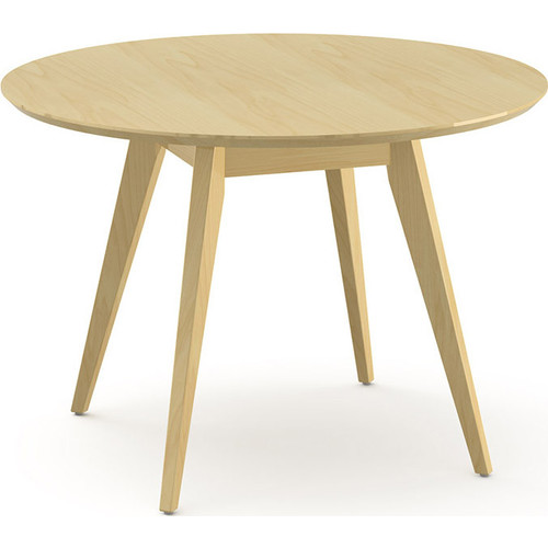 Risom Round Dining Table [Base\/Top : KC-KC - Clear Maple \/ Clear Maple]
