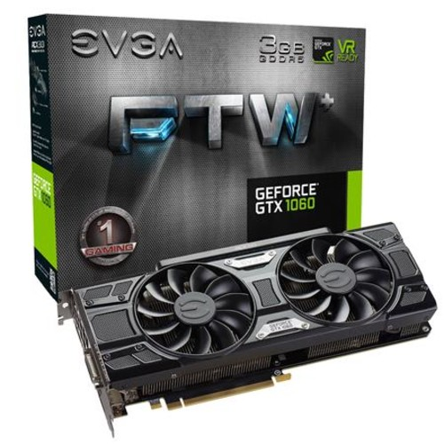 EVGA GeForce GTX 1060 FTW+ 3GB 192-Bit GDDR5 Graphics Card
