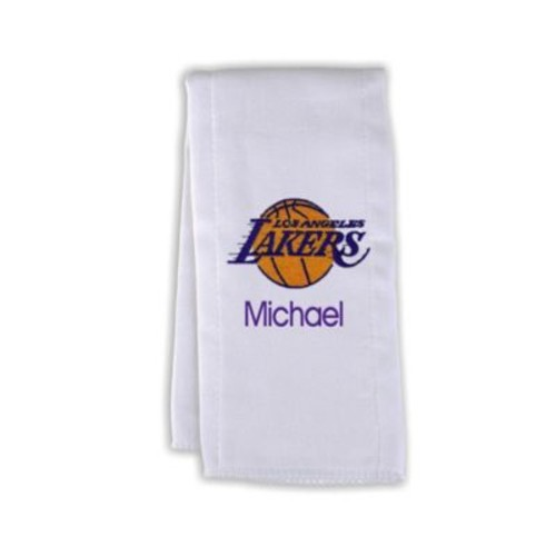 Designs by Chad and Jake NBA Personalized Los Angeles Lakers Burp Cloth