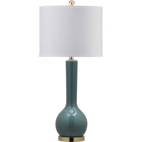 Safavieh Mae Long Neck Ceramic Table Lamp with CFL Bulb, Multiple Colors