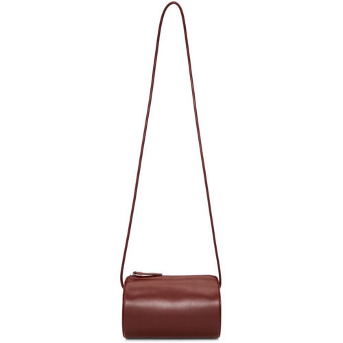 Burgundy Cylinder Sling Bag