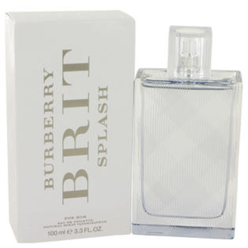 Burberry Eau De Toilette Spray 3.4 Oz Burberry Brit Splash Cologne By Burberry For Men