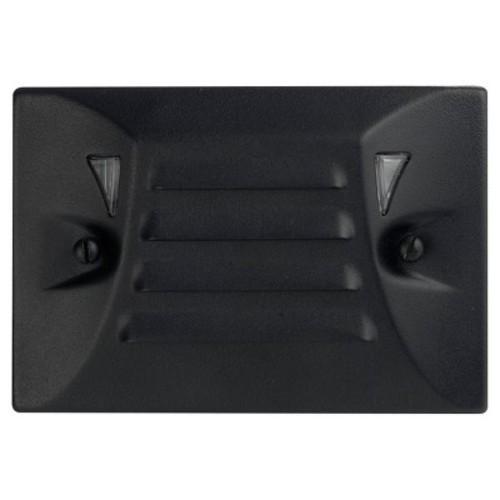 Paradise Garden LED Cast Aluminum Flushmount Half Brick Light - Black