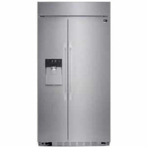 LG Studio 26.5 cu ft Ultra-Large Capacity Built-in Side-by-Side Refrigerator with Ice & Water Dispenser - Stainless Steel