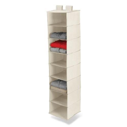Honey-Can-Do SFT-01253 8-Shelf Hanging Organizer, Natural [Natural]