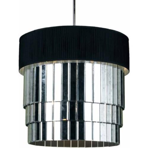 AF Lighting Garbo 6-Light Pendant with Black Shade
