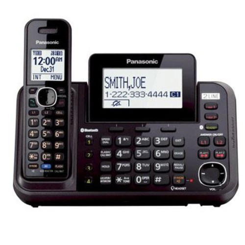 Panasonic KX-TG9541B 2-Line Link-to-Cell Digital Cordless Phone with 1 Handset KX-TG9541B