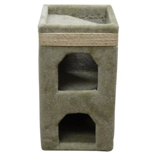 Cat Condos Premier Double Cat Tower [Beige]