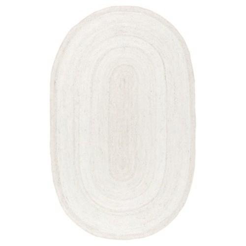 nuLOOM Rigo Jute White 2 ft. 3 in. x 4 ft. Oval Area Rug