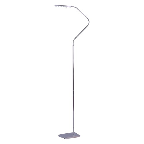 Kenroy Home Bently LED Floor Lamp, Chrome